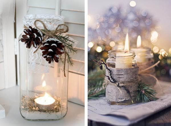 декор свечей корицей