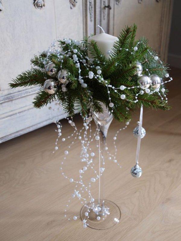 декор свечей лентами