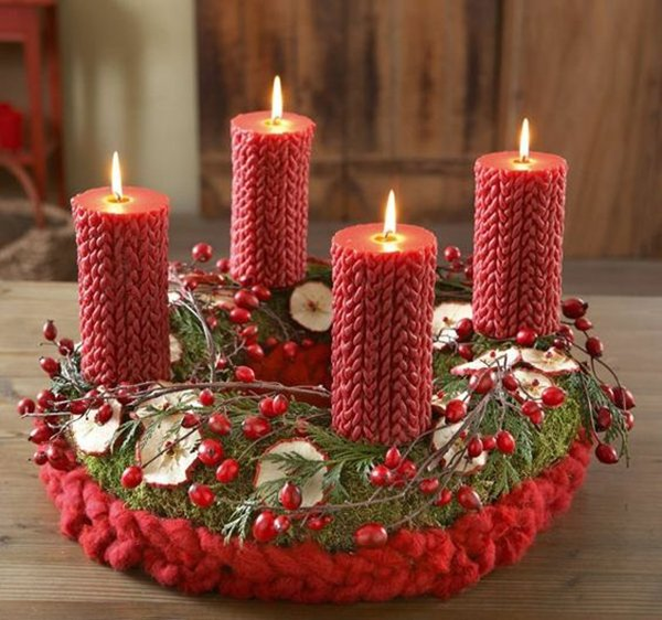 декор свечей в стиле рустик