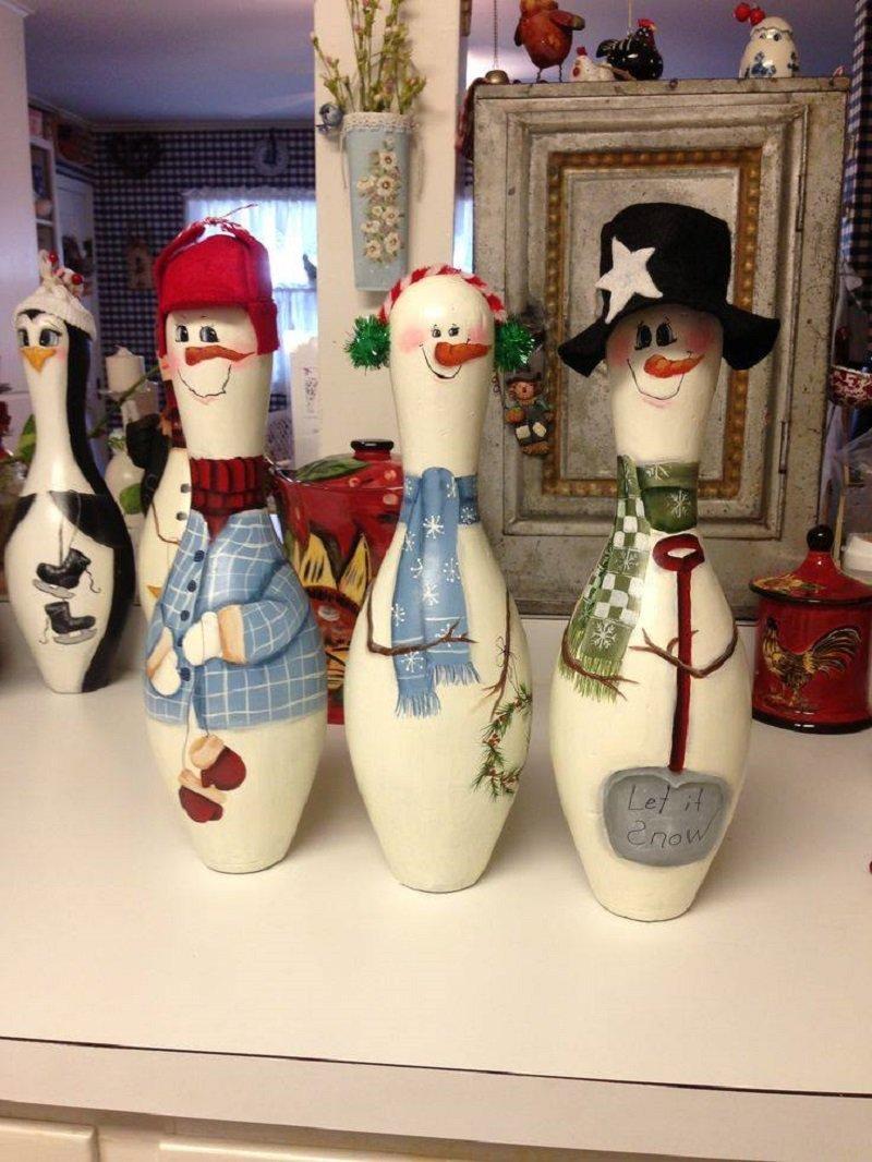 снеговики для дома