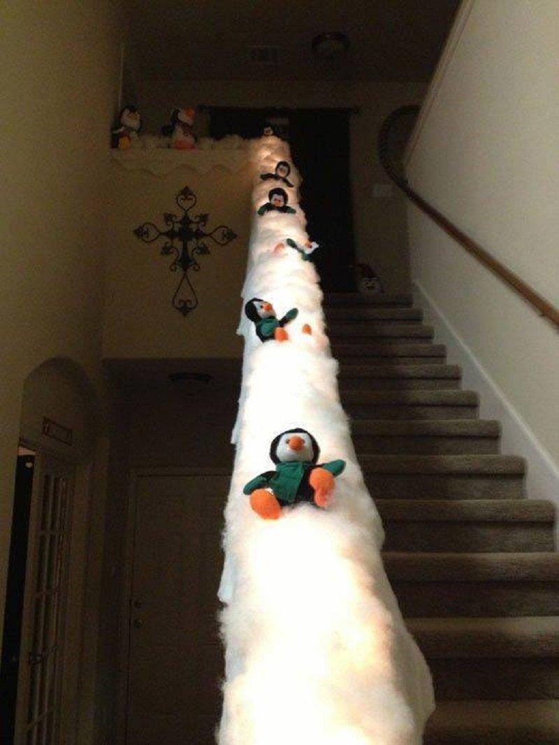 как украсить лестницу