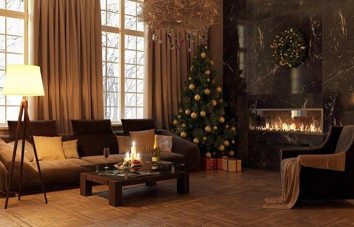 новогодняя атмосфера дома