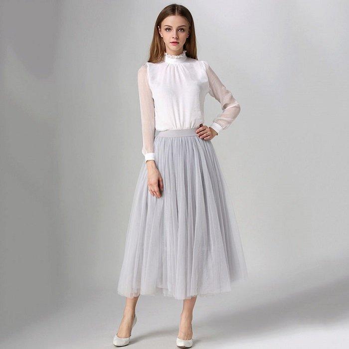 юбка до щиколоток с чем носить