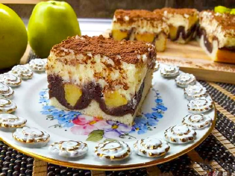 очень вкусный яблочный торт