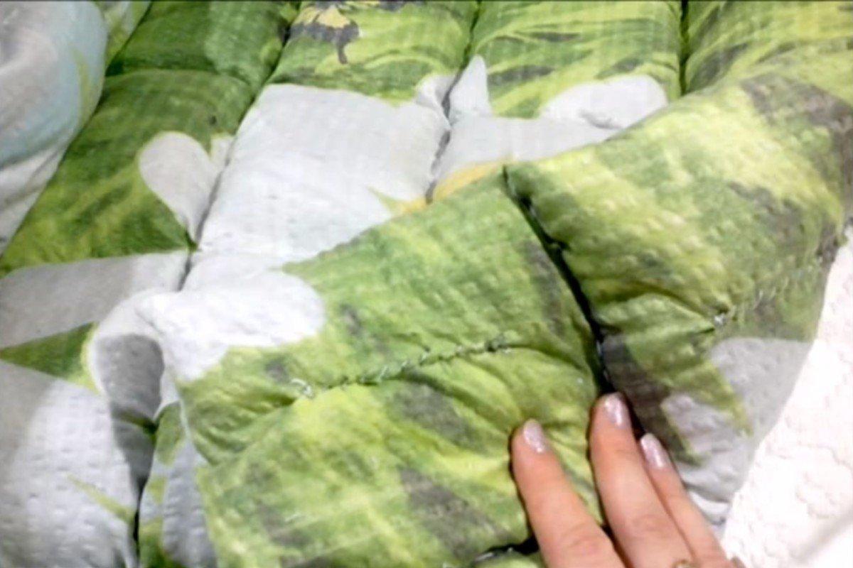 Швея без швейной машинки показывает, как из пододеяльника мигом сделать одеяло Вдохновение,Видео,Вещи,Дом,Поделки,Рукоделие,Хобби,Шитье