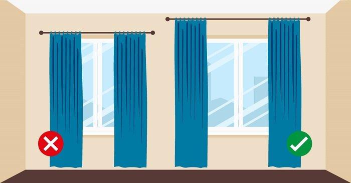 декорирование окон шторами