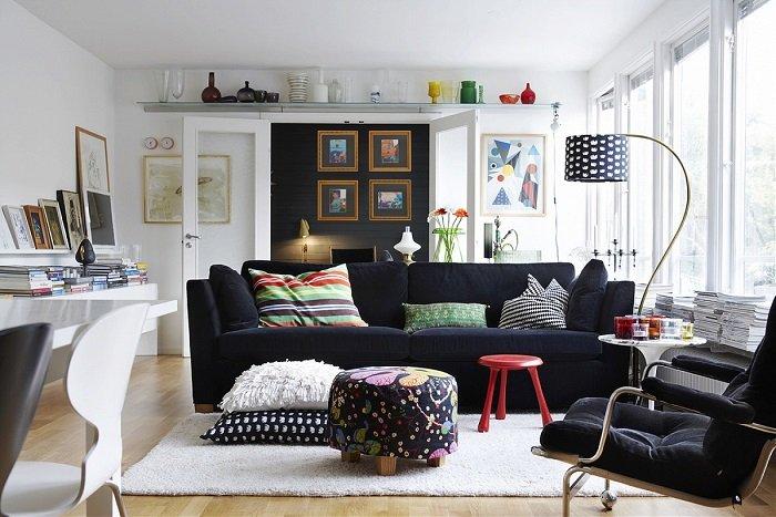расстановка мебели в гостиной комнате