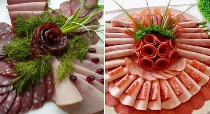 оформление нарезки из мяса
