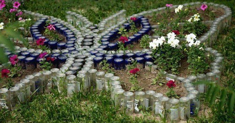 оформление клумб в саду своими руками