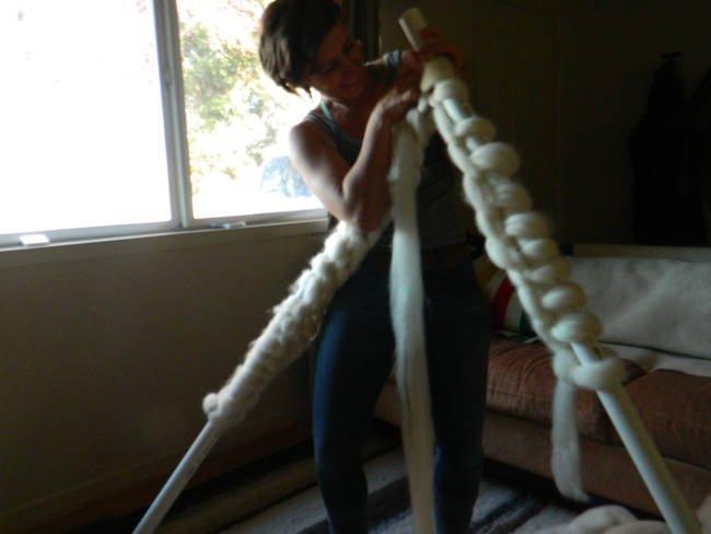 как связать одеяло