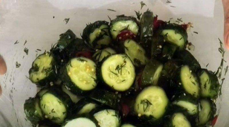 огурцы с горчицей