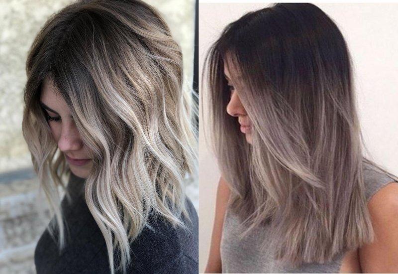 отросшие корни на белых волосах
