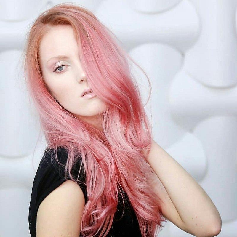 окрашивание волос с переходом