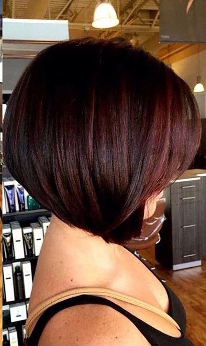 окрашивание волос с челкой