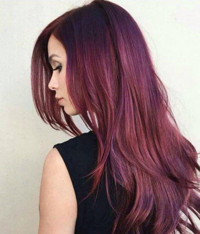 окрашивание волос с внутренней стороны