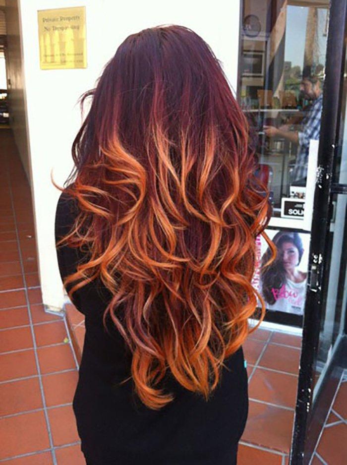 окрашивание волос с бликами