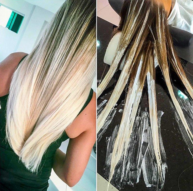 техника амбре окрашивание волос фото