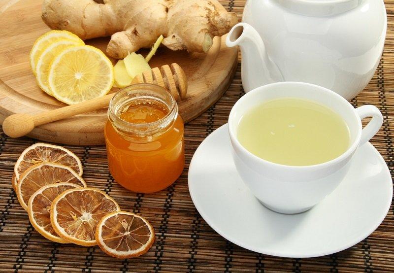 имбирный чай и мёд