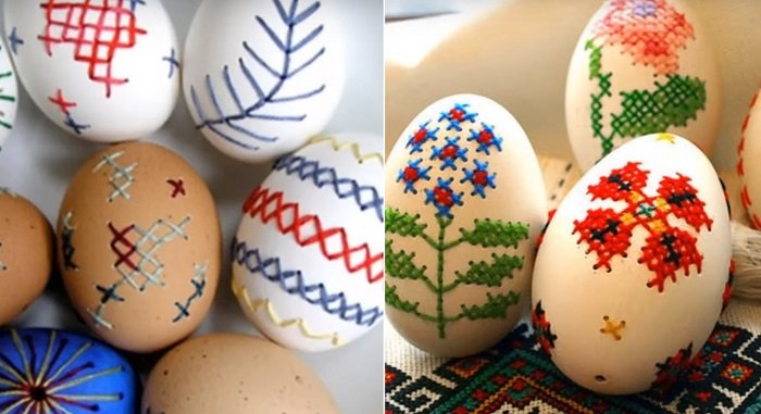 как вышивать на яичной скорлупе