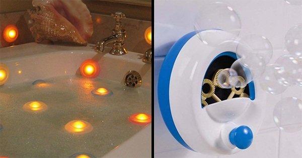 Современная ванная комната: эти 15 оригинальных приспособлений сделают купание еще приятнее.
