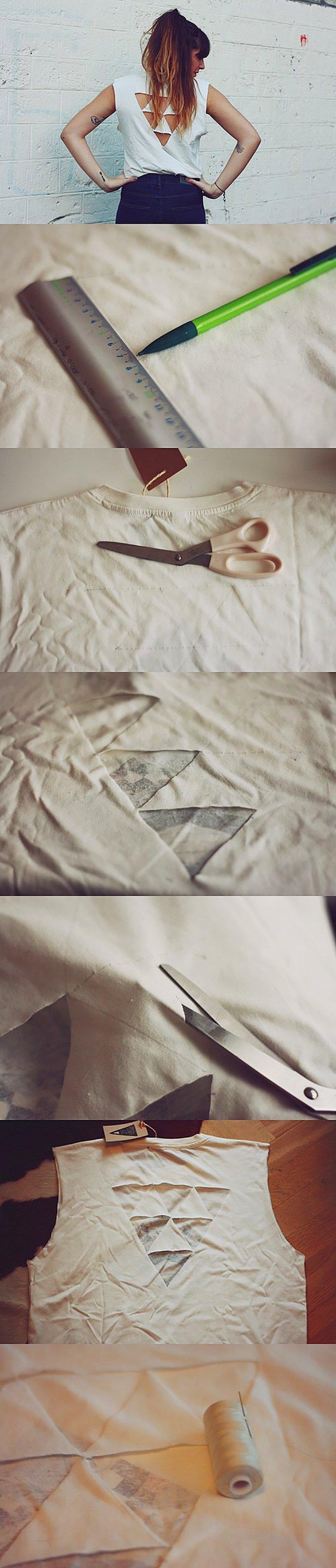 переделка из старой футболки