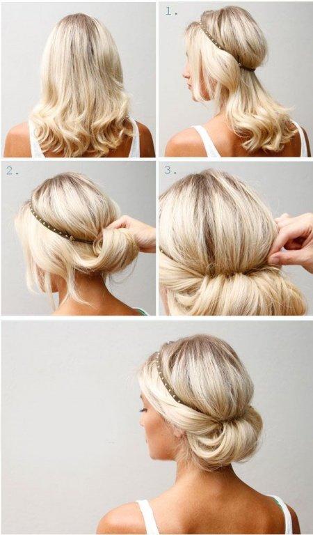 ободок в волосах