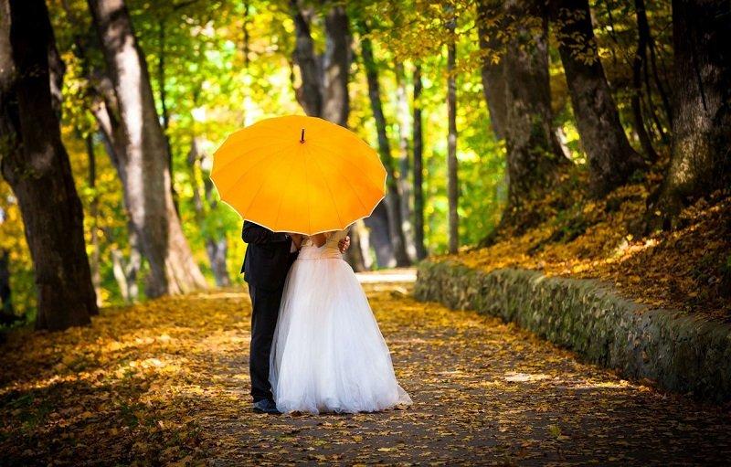 осенняя фотосессия с зонтом