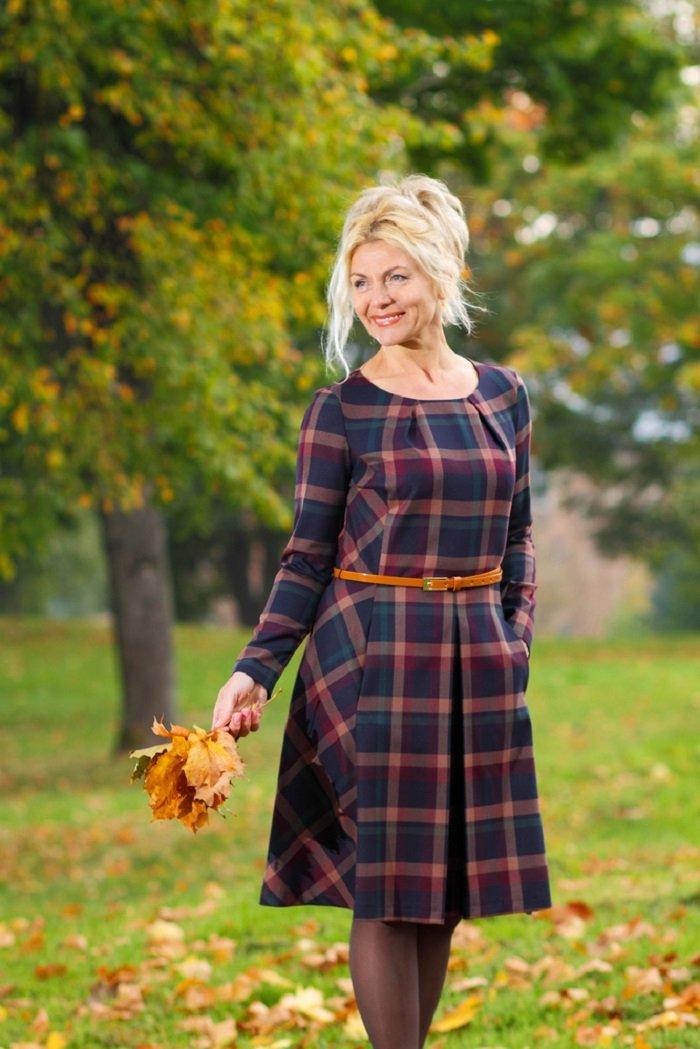 платья из шифона на осень