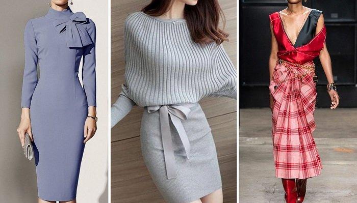 стильные осенние платья