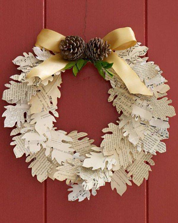 Как сделать рождественский венок своими руками из бумаги