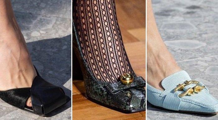 обувь с квадратным носком