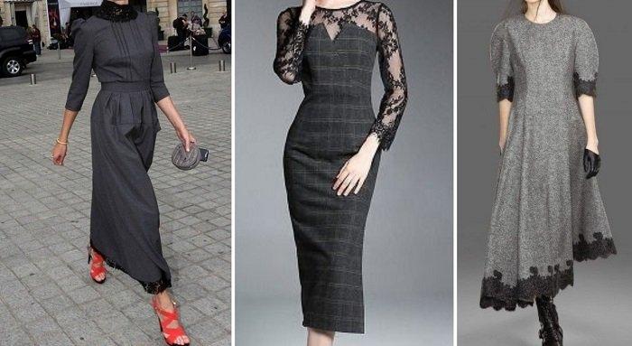 платья с кружевом или гипюром