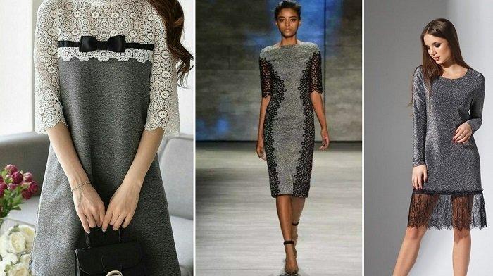 платья с сеткой и кружевом