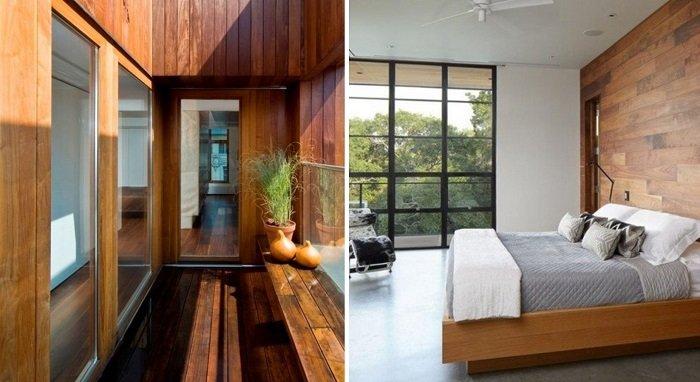 отделка стен ламинатом на балконе