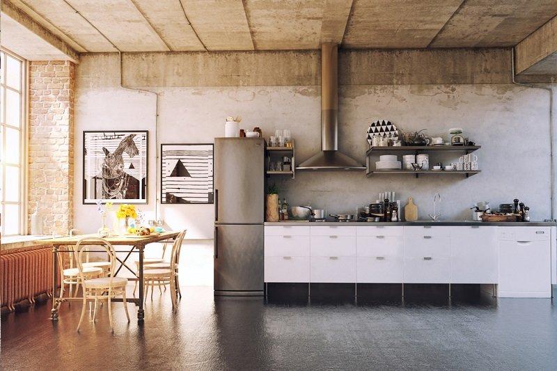 бетонные стены в интерьере фото