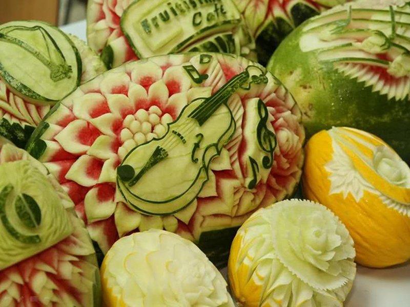 декоры на фруктах