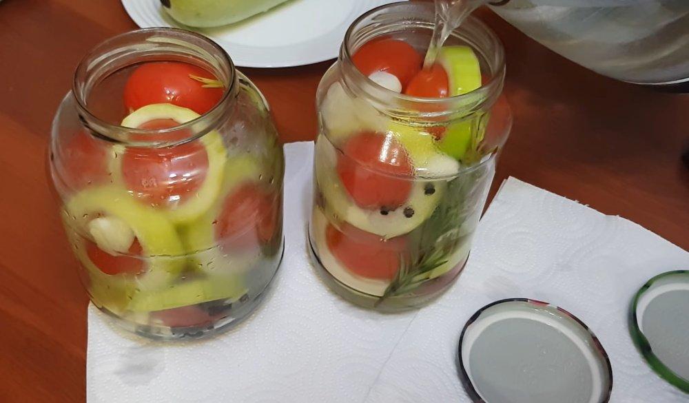 кабачки с помидорами заготовки на зиму