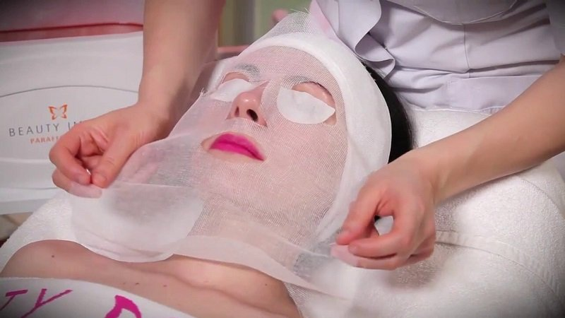 парафиновая маска для лица