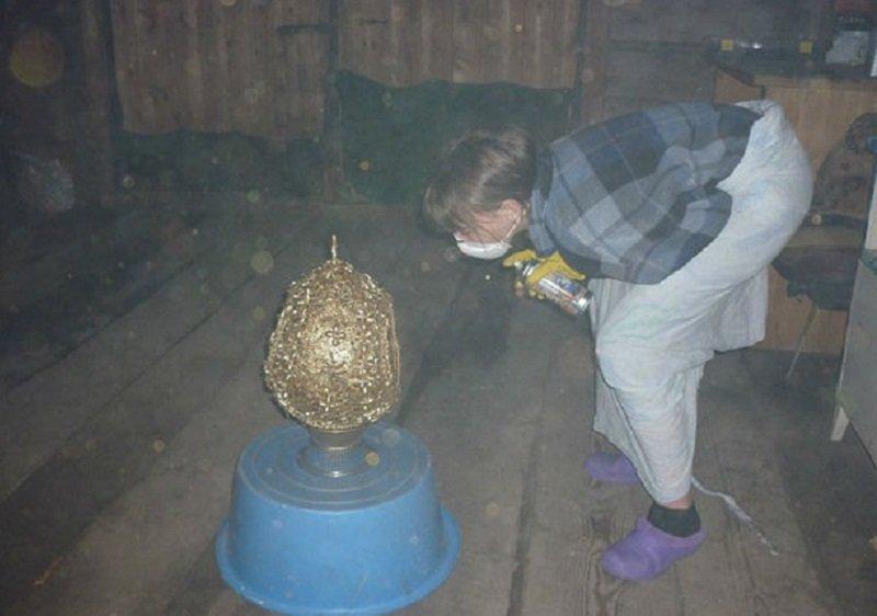 пасхальное яйцо из макарон своими руками