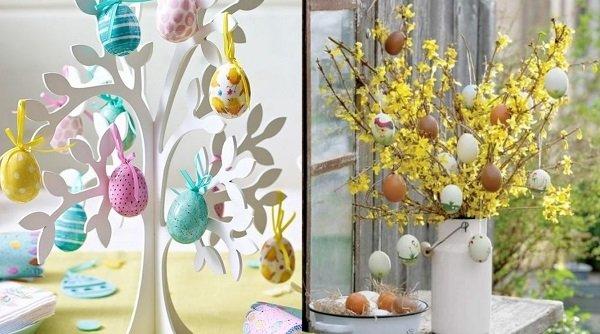 пасхальные композиции с живыми цветами