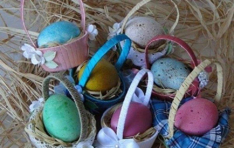 пасхальные корзины для яиц