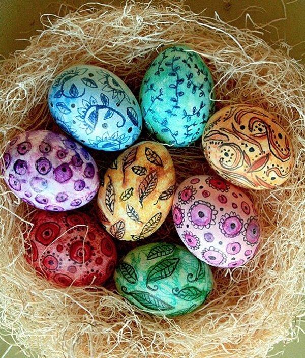 узор на яйцах