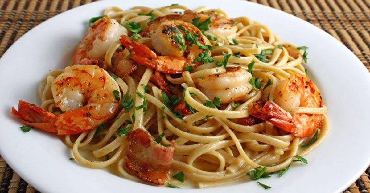 Итальянская паста с креветками и сыром — устрой праздник для своего желудка!
