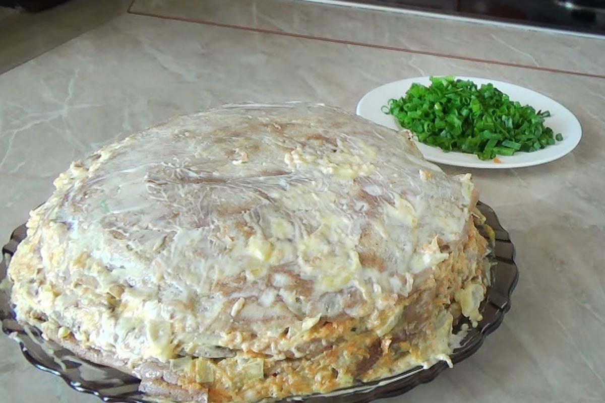 печеночный пирог рецепт