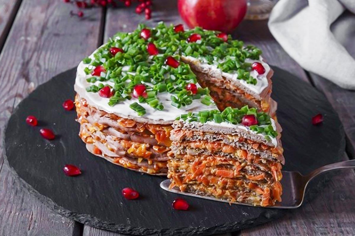 печеночный пирог без яиц
