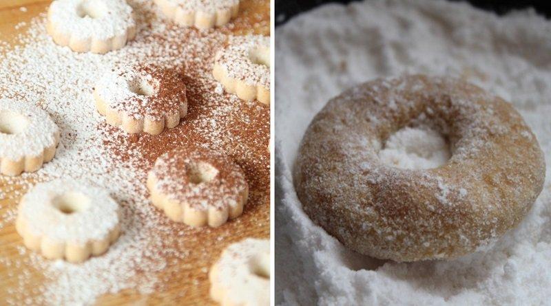 Инструкция по приготовлению печенья «Колечки» с сахарной пудрой