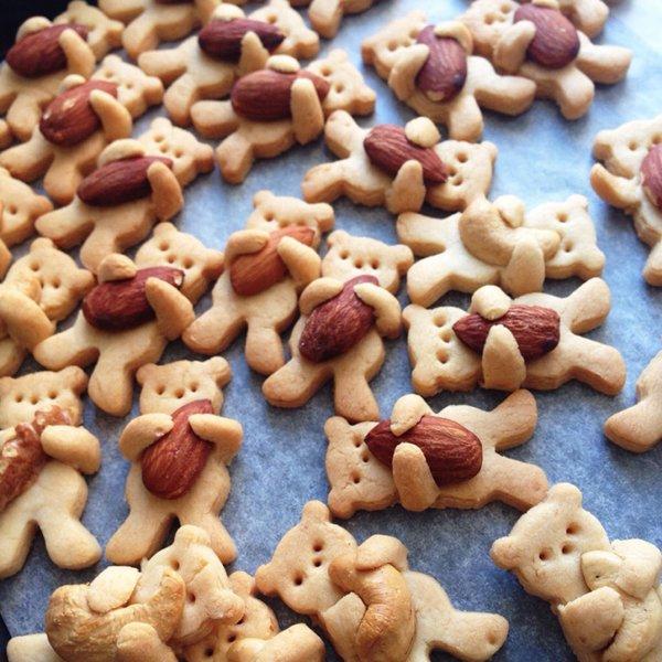 печенье в форме медведей