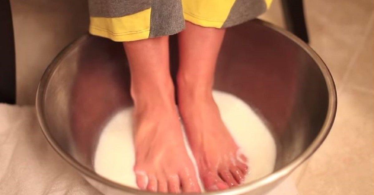 Она окунула ноги в белую жидкость. Результат превзошел даже самые смелые ожидания!