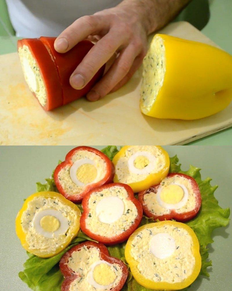 болгарский перец, фаршированный сыром