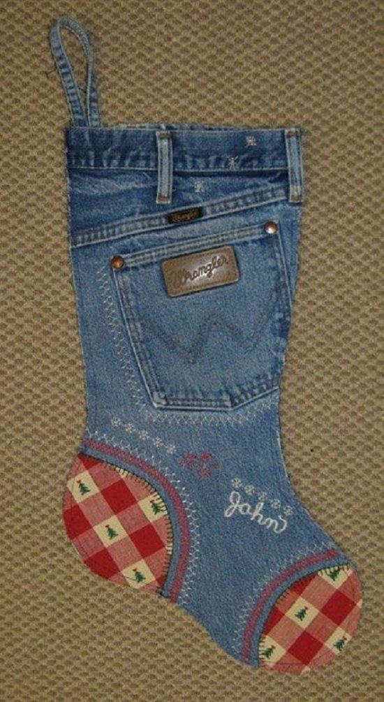 джинсовый носок